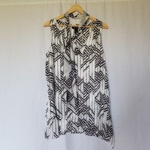 White house black market layered sleeveless top